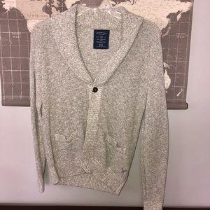 AE men's cardigan sweater